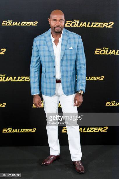 Director Antoine Fuqua attends 'The Equalizer 2' photocall at the Villamagna Hotel on August 7 2018 in Madrid Spain