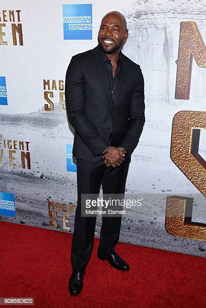 Director Antoine Fuqua attends 'The Magnificent Seven' New York Premiere at the Museum of Modern Art on September 19 2016 in New York City