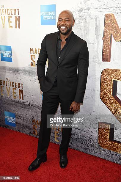 Director Antoine Fuqua attends 'The Magnificent Seven' premiere at Museum of Modern Art on September 19 2016 in New York City