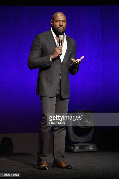 Director Antoine Fuqua speaks onstage during the CinemaCon 2018 Gala Opening Night Event Sony Pictures Highlights its 2018 Summer and Beyond Films at...