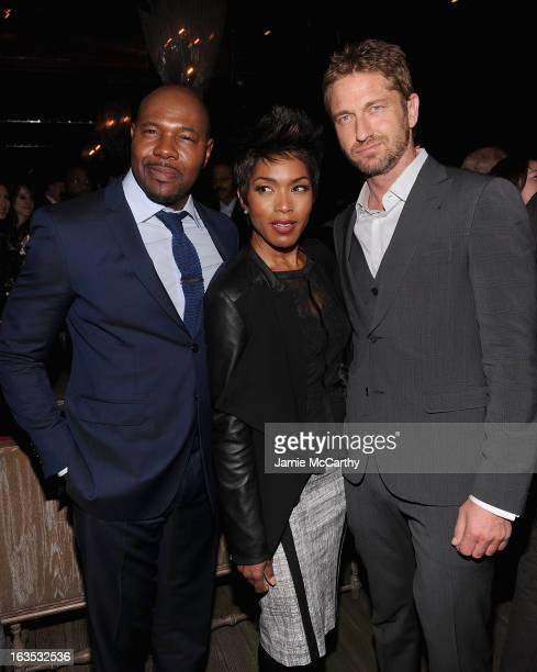 Director Antoine FuquaAngela Bassett and Gerard Butler attend the after party for The Cinema Society with Roger Dubuis and Grey Goose screening of...