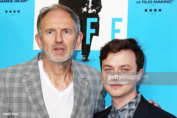 Director Anton Corbijn and Dane Dehaan attend the 'Life' UK Gala Screening at Soho Hotel on September 23 2015 in London England