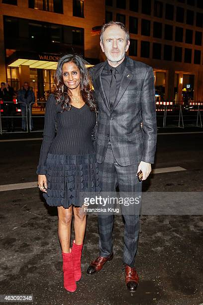 Director Anton Corbijn and Nimi Ponnadurai attend the 'Life' Premiere AUDI at The 65th Berlinale International Film Festival on February 09 2015 in...