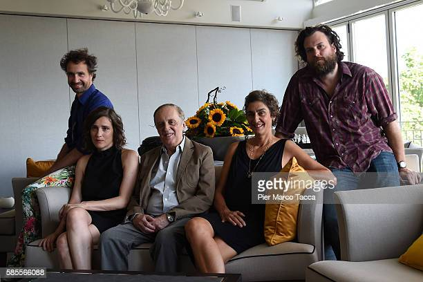 Director Antonin Peretjatko Angeliki Papoulia Dario Argento Cornelia Seitler and Sean Price Williams attend a photocall during the 69th Locarno Film...