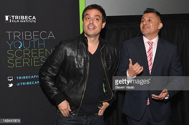 Director Antonino D'Ambrosio and Director of Education Tribeca Film Festival Virgilio Bravo speak at the Let Fury Have The Hour Youth Screening...