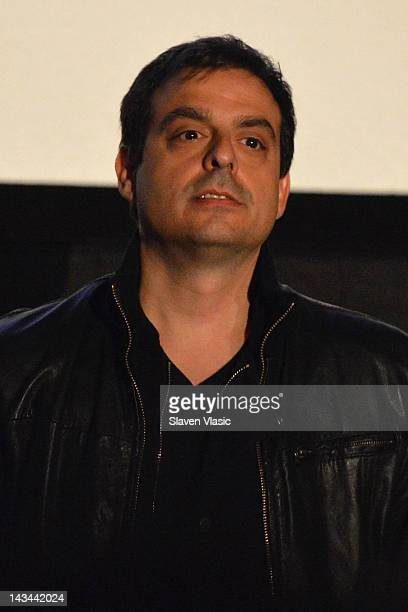 Director Antonino D'Ambrosio speaks at the Let Fury Have The Hour Youth Screening during the 2012 Tribeca Film Festival at the AMC Lowes Village on...
