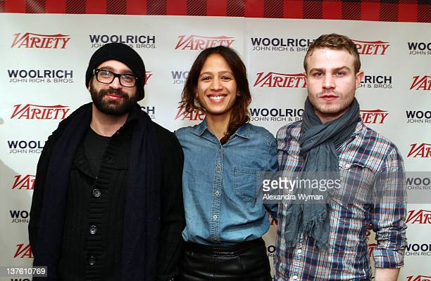 Director Antonio Campos and actors Mati Diop and Brady Corbet attend Day 3 of The Variety Studio at the 2012 Sundance Film Festival at Variety Studio...