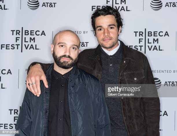 Director Antonio Campos and cast member Christopher Abbott attend 'The Sinner' premiere during 2017 Tribeca Film Festival at SVA Theatre on April 25...