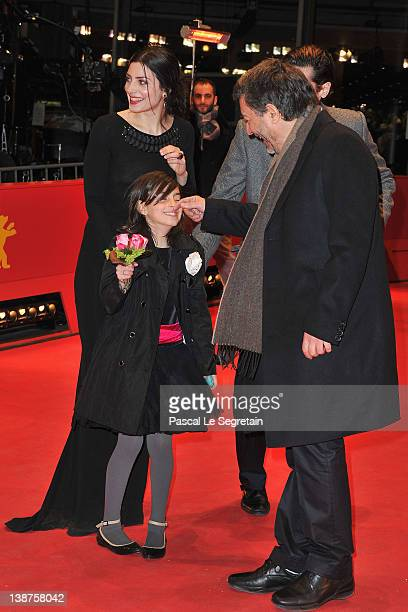 Director Antonio Chavarrias actress Barbara Lennieactress Mágica Pérez and actor Juan Diego Botto attend the Dictado Premiere during day three of the...
