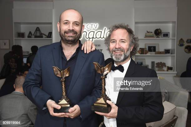 Director Antonio Mendez Esparza and producer Pedro Hernandez Santos winners of the John Cassavetes Award for 'Life and Nothing More' attend the 2018...