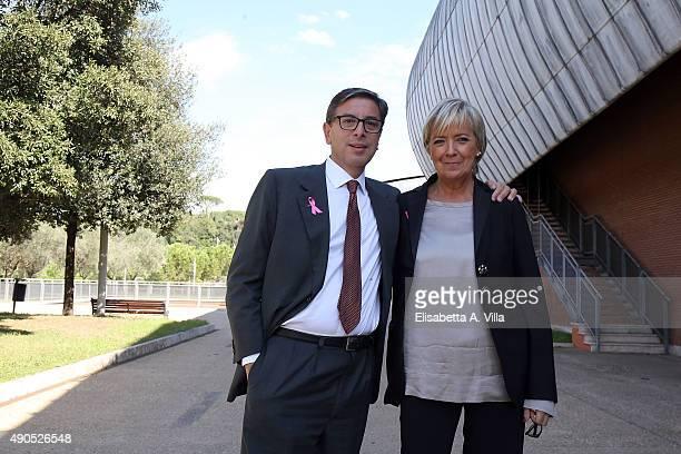Director Antonio Monda and President Piera Detassis attend Rome Film Fest press conference at Auditorium della Musica on September 29 2015 in Rome...