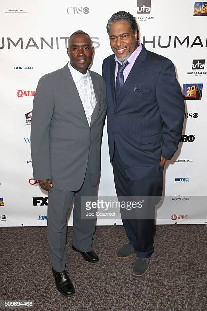 Director Antwone Fisher and President of the Humanitas Awards Ali LeRoi attend the 41st Humanitas Prize Awards Ceremony at Directors Guild Of America...