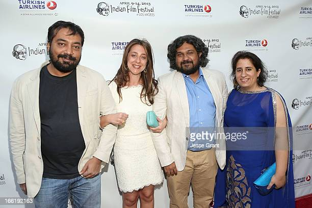Director Anurag Kashyap IFFLA Founder Christina Marouda director Vasan Bala and producer Guneet Monga attend the Indian Film Festival of Los Angeles...