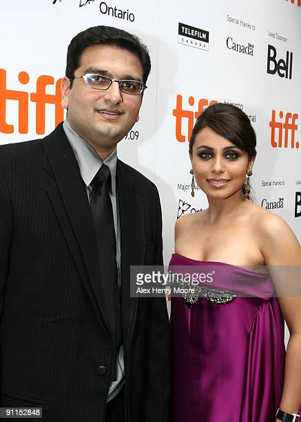 Director Anurag Singh and actress Rani Mukherjee attend 'My Heart Goes Hadippa' premiere at the Roy Thomson Hall during 2009 Toronto International...