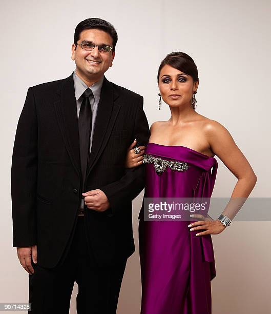 Director Anurag Singh and actress Rani Mukherjee from the film 'My Heart Goes� Hadippa' pose for a portrait during the 2009 Toronto International...