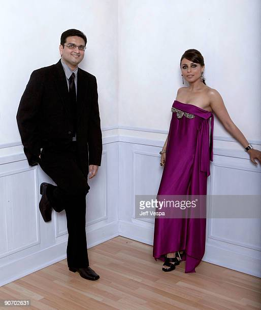Director Anurag Singh and actress Rani Mukherjee pose for a portrait during the 2009 Toronto International Film Festival held at the Sutton Place...