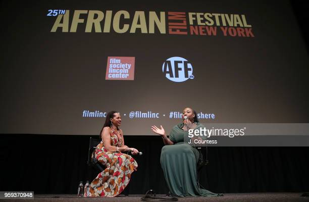 Director Apolline Traor speaks at the opening night of the 25th African Film Festival at Walter Reade Theater on May 16 2018 in New York City