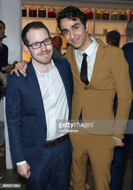 Director Ari Aster and actor Alex Wolff attend the screening after party for 'Hereditary' hosted by A24 at Metrograph on June 5 2018 in New York City