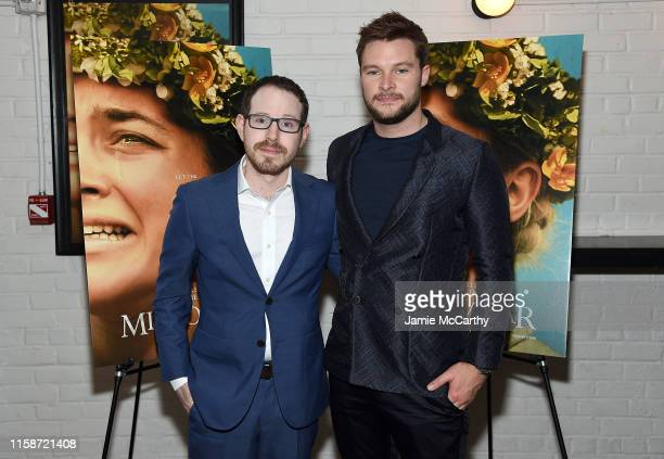 Director Ari Aster and Jack Reynor attend the Midsommar New York Screening at Metrograph on June 27 2019 in New York City