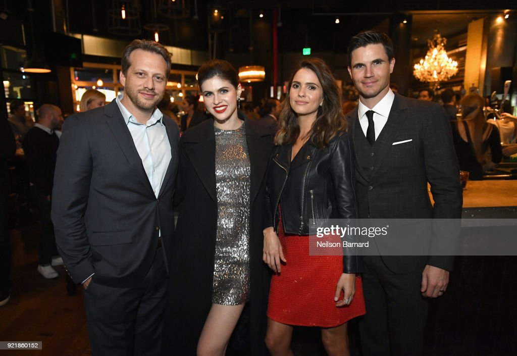 Director Ari Sandel and actors Alexandra Daddario, Shelley Hennig and Robbie Amell attend Special Screening Of Netflix Original Film' 'When We First Met' at ArcLight Theaters at ArcLight Hollywood on February 20, 2018 in Hollywood, California.