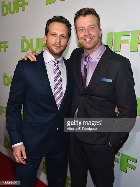 Director Ari Sandel and producer McG attend a Fan Screening of CBS Films' The Duff at the TCL Chinese 6 Theatres on February 12 2015 in Hollywood...