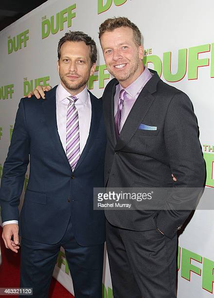 Director Ari Sandel and Producer McG attend a special Los Angeles fan screening of 'THE DUFF' on February 12 2015 in Los Angeles California
