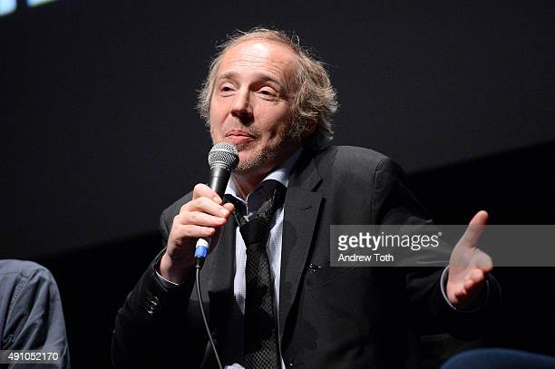 Director Arnaud Desplechin speaks on stage at the 'My Golden Days' QA during the 53rd New York Film Festival at Alice Tully Hall Lincoln Center on...
