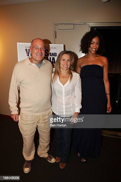 Director Arnon Milchan his wife tennis player Amanda Coetzer and director Michelle Major attend the 'Venus And Serena' advance LA screening at the...