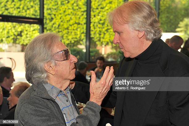 Director Arthur Hiller and DGA feature film director nominee James Cameron attend the 62nd Annual Directors Guild Of America Awards President's...