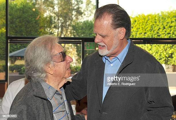Director Arthur Hiller and DGA President Taylor Hackford attend the 62nd Annual Directors Guild Of America Awards President's Breakfast at the DGA on...