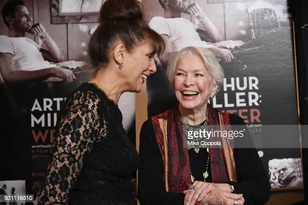 Director Arthur Miller Writer Rebecca Miller and actress Ellen Burstyn attend the 'Arthur Miller Writer' New York Screening at the Celeste Bartos...