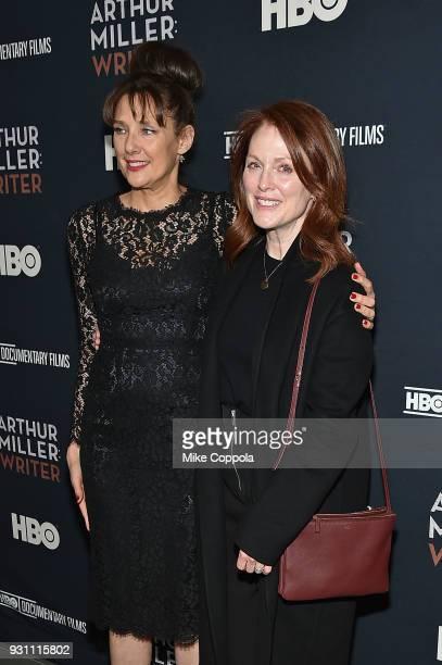 Director Arthur Miller Writer Rebecca Miller and actress Julianne Moore attend the 'Arthur Miller Writer' New York Screening at the Celeste Bartos...