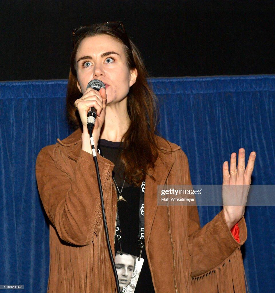Director Asa Hjorleifsdottir speaks at a screening of 'The Swan' during The 33rd Santa Barbara International Film Festival at the Metro Theatre on February 8, 2018 in Santa Barbara, California.