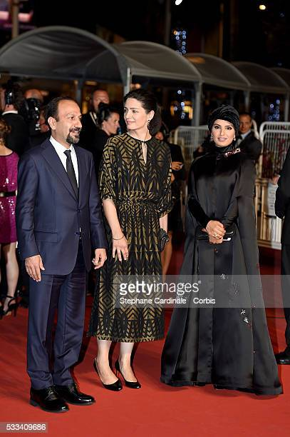 Director Asghar Farhadi a guest and Fatma Al Remaihi attend The Salesman Premiere during the 69th annual Cannes Film Festival at the Palais des...