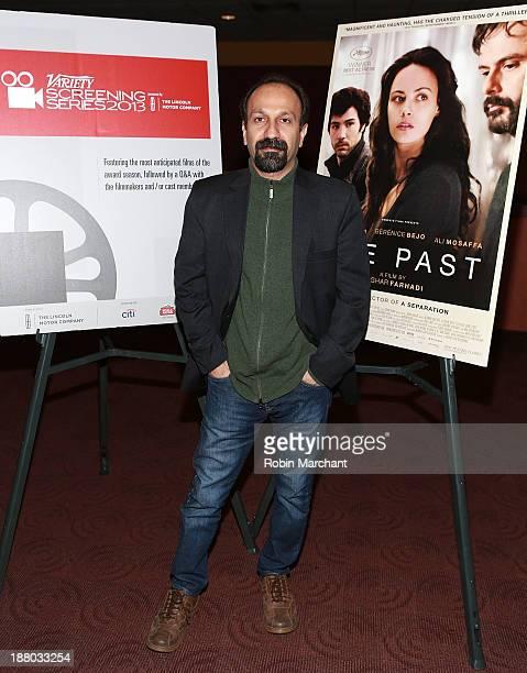 Director Asghar Farhadi attends 2013 Variety Screening Series presentation of 'The Past' at Chelsea Bow Tie Cinemas on November 14 2013 in New York...