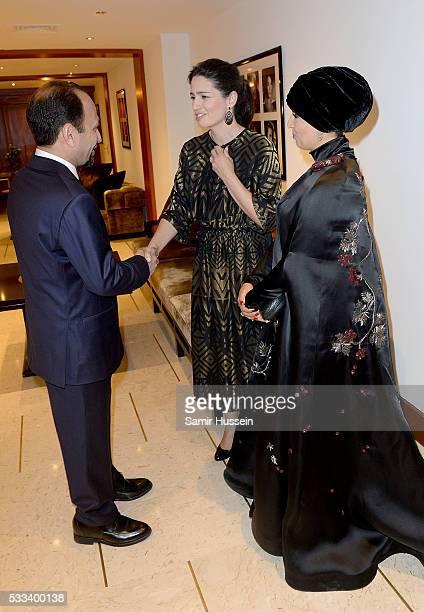 Director Asghar Farhadi Hanaa Issa and Doha Film Institue CEO Fatma Al Remaihi prior to the The Salesman Premiere at the annual 69th Cannes Film...