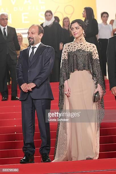 Director Ashgar Farhadi and Taraneh Alidoosti attend The Salesman Premiere during the 69th annual Cannes Film Festival at the Palais des Festivals on...
