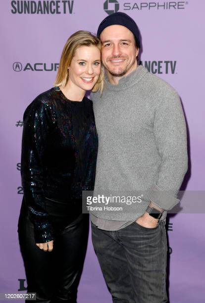 Director Ashley Williams and Producer Neal Dodson of Meats attend the 2020 Sundance Film Festival Shorts Program 2 at Temple Theater on January 28...