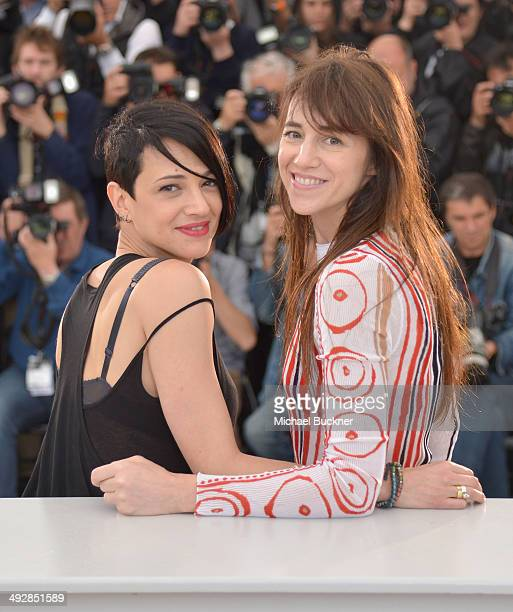 Director Asia Argento and actress Charlotte Gainsbourg attend the 'Misunderstood' photocall at the 67th Annual Cannes Film Festival on May 22 2014 in...