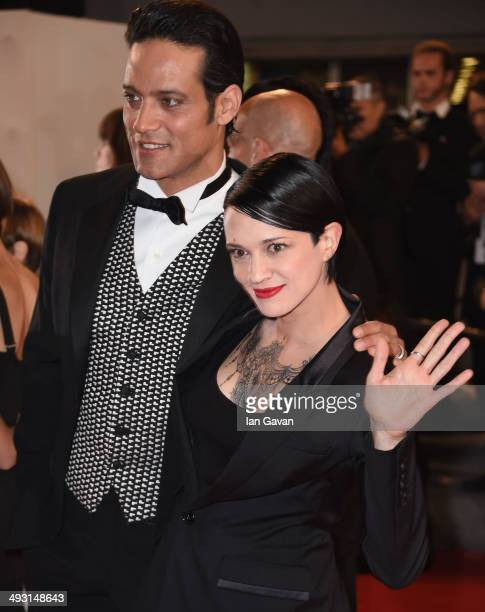 Director Asia Argento and Gabriel Garko attend the 'Misunderstood' premiere during the 67th Annual Cannes Film Festival on May 22 2014 in Cannes...