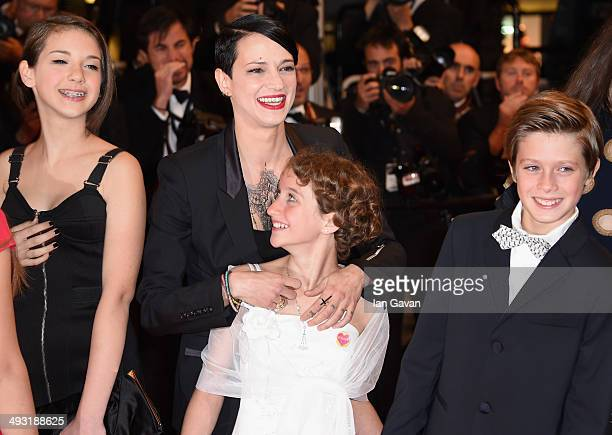 Director Asia Argento Giulia Salerno and Andrea Pittorino attend the 'Incompresa' Premiere during the 67th Annual Cannes Film Festival on May 22 2014...