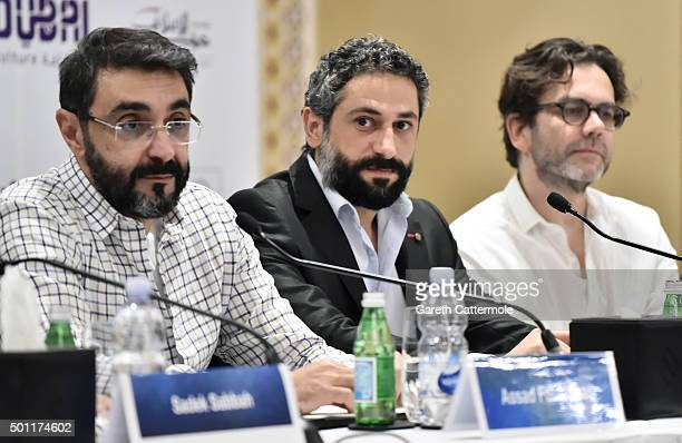 Director Assad Fouladkar actor Rodrigue Sleiman and producer Roman Paul attend the 'Halal Love' press conference during day five of the 12th annual...