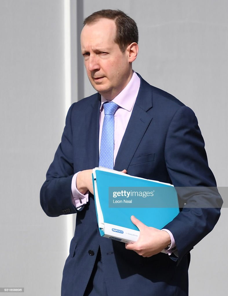 Chief of the Secret Intelligence Service Alex Younger arrives at the Cabinet Office as Prime Minister Theresa May chairs a meeting of the National Security Council over the spy poisoning case on March 14, 2018 in London, England. Mrs May is expected to announce measure against Moscow after it failed to meet a deadline to explain how a Russian nerve agent was used in Salisbury against former spy Sergei Skripal and his daughter Yulia.