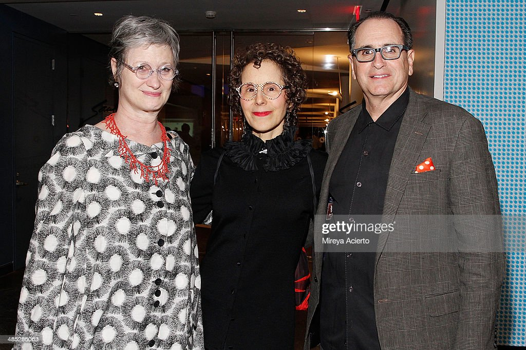 Director at the Marian Goodman Gallery Jeannie Freilich, Matthew Marks gallery director Jill Sussman and President/Publisher at Caring Today Victor Imbimbo attend the Brooklyn Museum's 4th annual Brooklyn Artists Ball on April 16, 2014 in the Brooklyn borough of New York City.