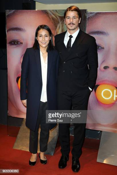 Director Atsuko Hirayanagi and Actor Josh Hartnett attends the 'Oh Lucy' Paris Premiere at UGC Cine Cite des Halles on January 15 2018 in Paris France