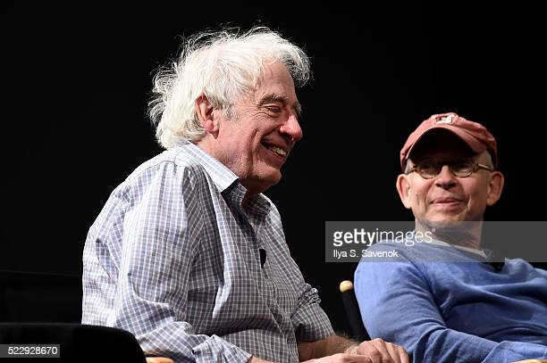 Director Austin Pendleton and Bob Balaban speak on stage during the Tribeca Talks After The Movie Starring Austin Pendleton at SVA Theatre 2 on April...