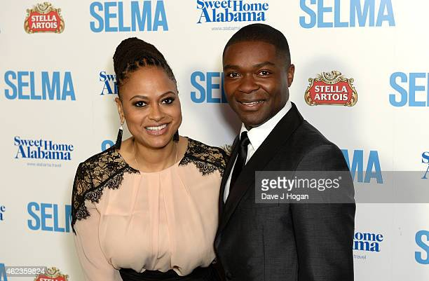 Director Ava DuVernay and actor David Oyelowo attend the European premiere of Selma at the Curzon Mayfair on January 27 2015 in London England