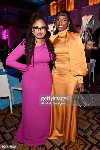 Director Ava DuVernay and actor Issa Rae at the world premiere of Disney's 'A Wrinkle in Time' at the El Capitan Theatre in Hollywood CA Feburary 26...
