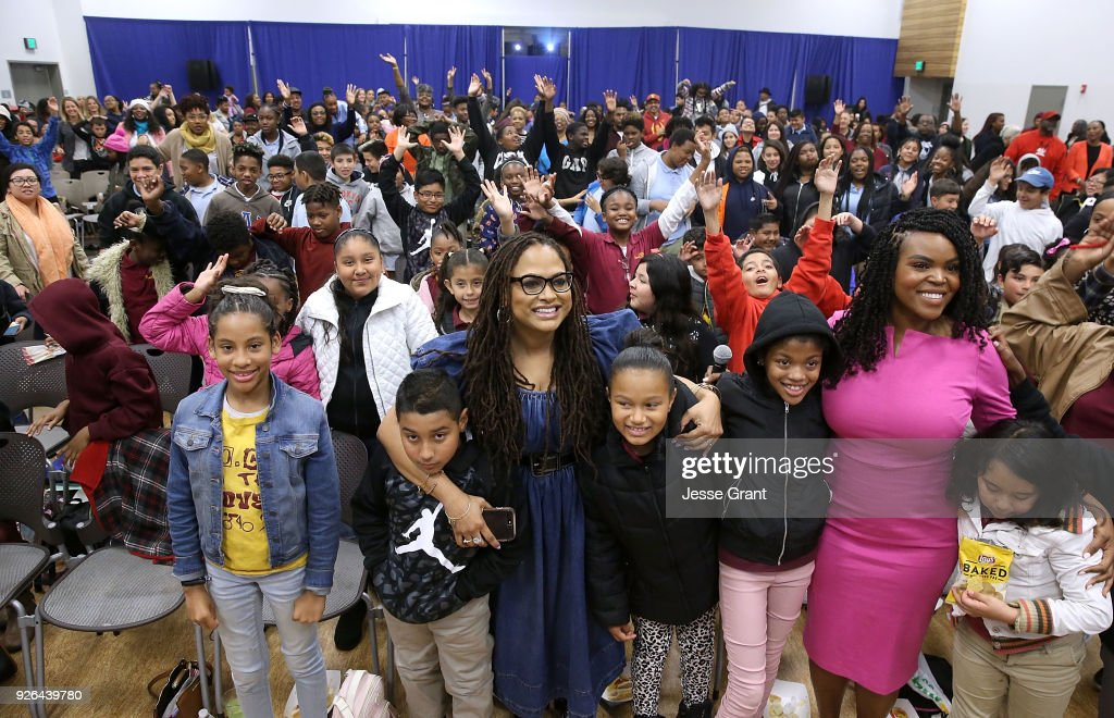 """Ava DuVernay and Mayor Aja Brown Bring """"A Wrinkle in Time"""" to Compton : News Photo"""
