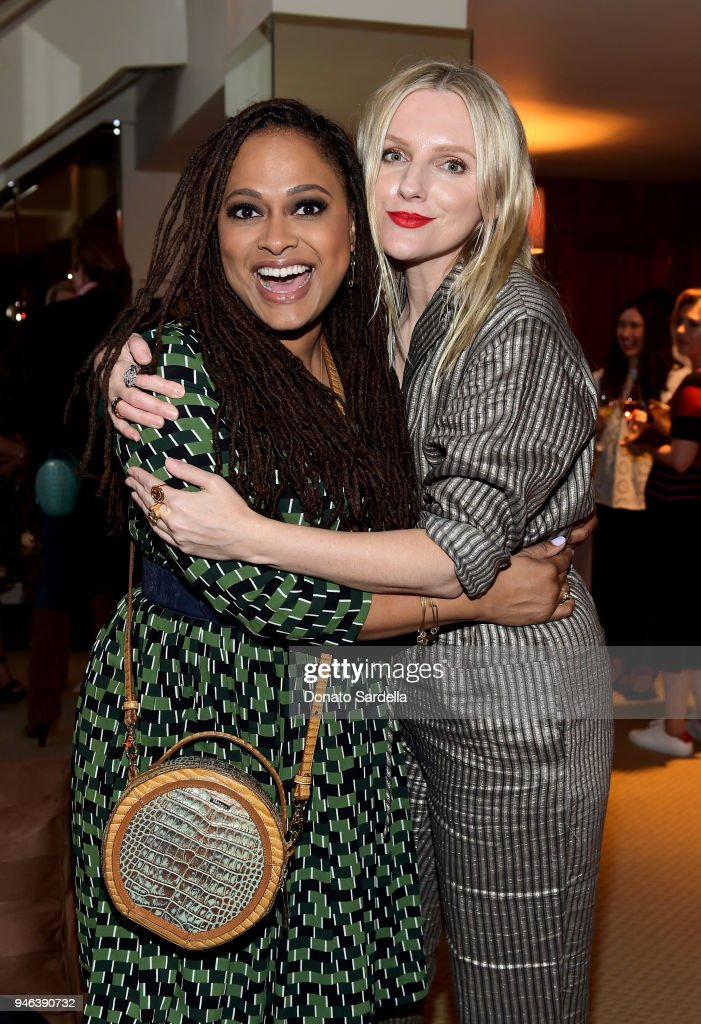 Director Ava DuVernay (L) and InStyle Editor in Chief Laura Brown attend InStyle and Brahmin's Badass Women Dinner hosted by Laura Dern on April 14, 2018 in West Hollywood, California.